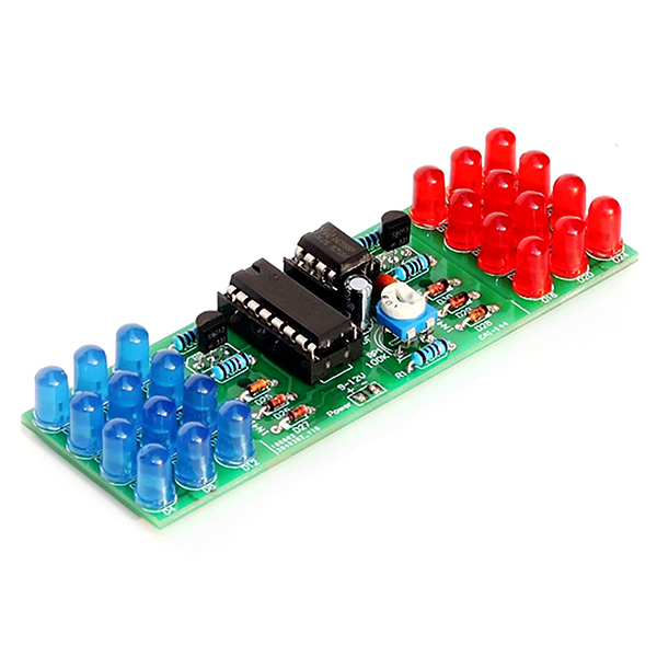 NE555+CD4017 Module Red Blue Color Flashing Lights Lamp DIY Kit