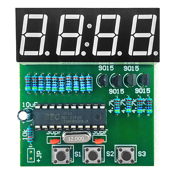 C51 4 Bits Digital LED Electronic Soldering Clock Kits DIY