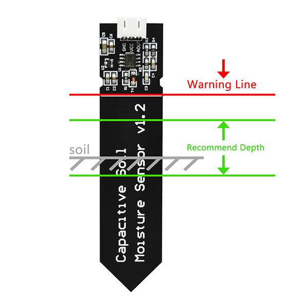 Capacitive Soil Moisture Sensor Corrosion Resistant for Arduino