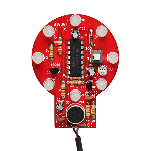 Sound and Light Control Delay Lamp Practice Soldering Board Kit