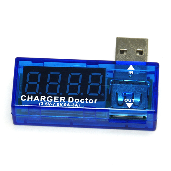 USB Current Meter Mobile Battery Tester Power Detector Blue