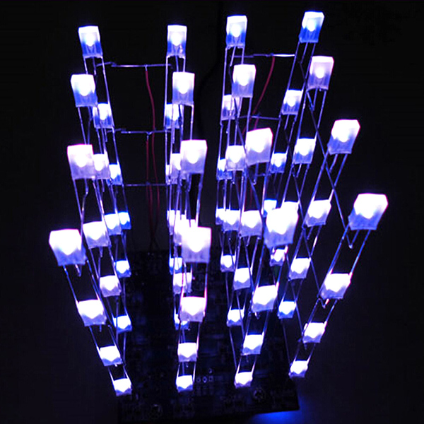 3D LED LightSquared 4x4x4 LED Cube White LED Blue Ray DIY Kit