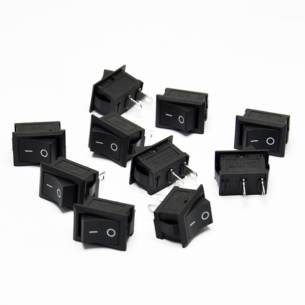 10pcs Small Ship Type Switch Boat Switch 15x21 mm 250VAC 6A