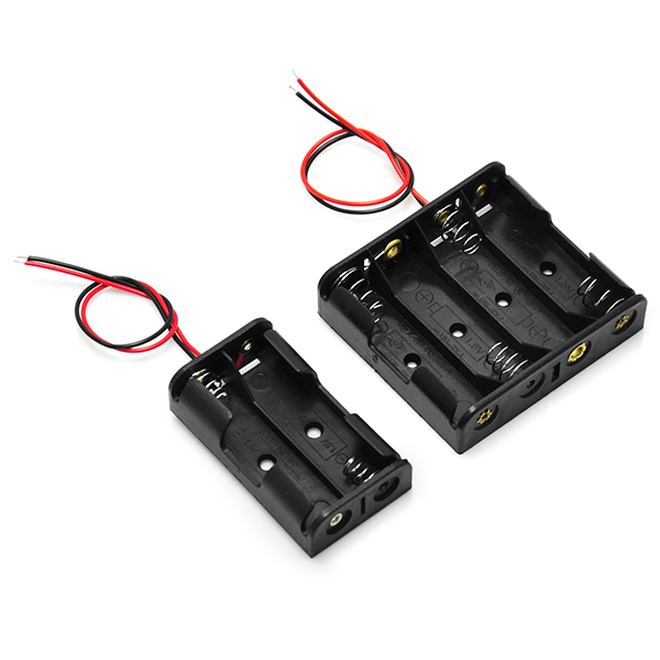 Plastic Battery Storage Box Holder For 4 X AA & 2 X AA