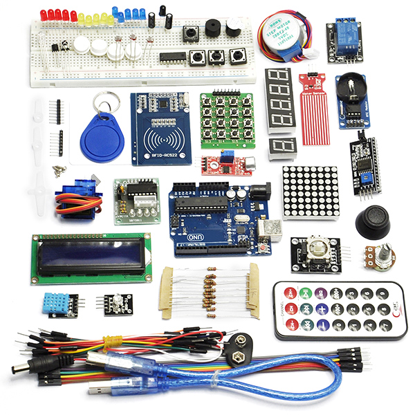 Good RFID Starter Learning Kit with UNO R3 Water Sensor LCD Serv