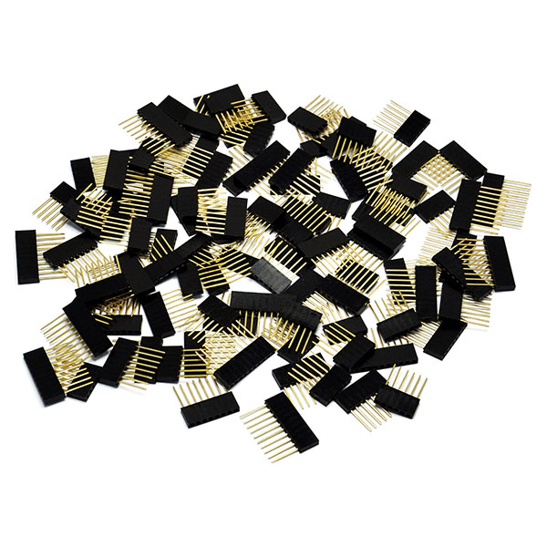 Stackable Shield Header Set Kit 6 8 10 Pin (Pack of 100pcs)