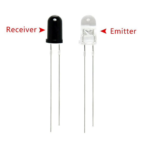 5mm 940nm LEDs Infrared Emitter and IR Receiver Diode