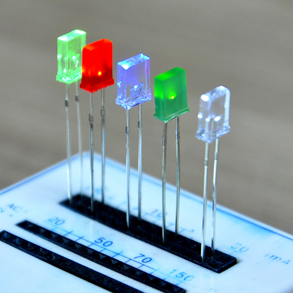 2x5x7mm Rectangle LED Emitting Diode White Blue Red Green