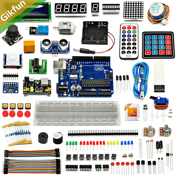Good Ultimate Starter learning Kit for Arduino UNO R3 LCD1602 Se