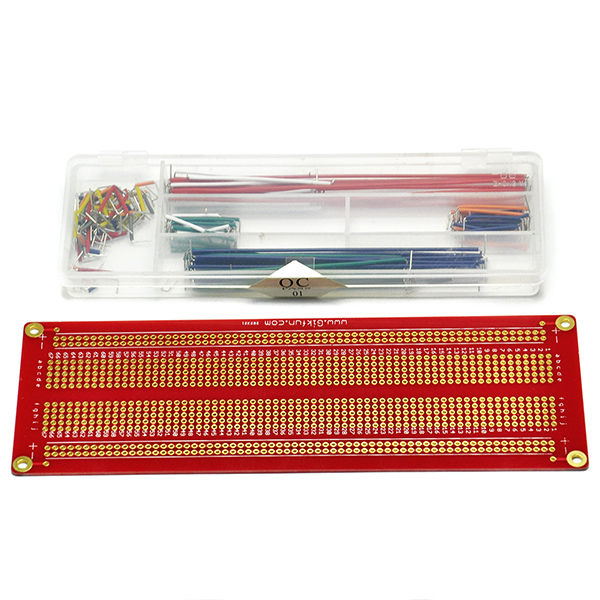 Large Solder-able Breadboard Proto Board with Jumper Cable Wire