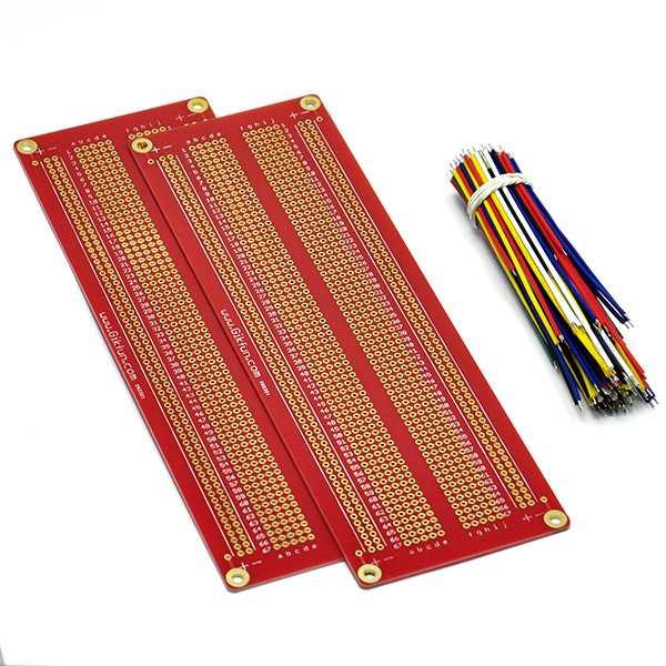 Large Solder-able Breadboard Gold Plated Finish Proto Board with
