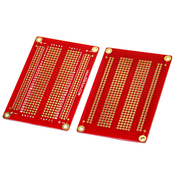 5PCS Solder-able Breadboard Gold Plated Finish Proto Board PCB
