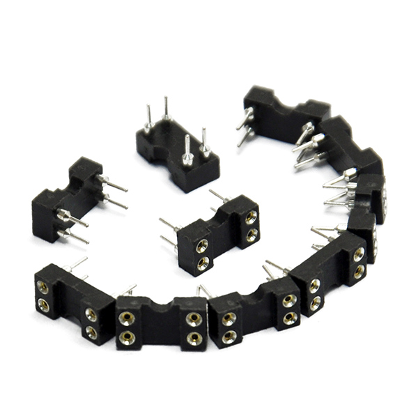 10pcs Round Hole 4pin Pitch 2.54mm DIP IC Sockets Adaptor
