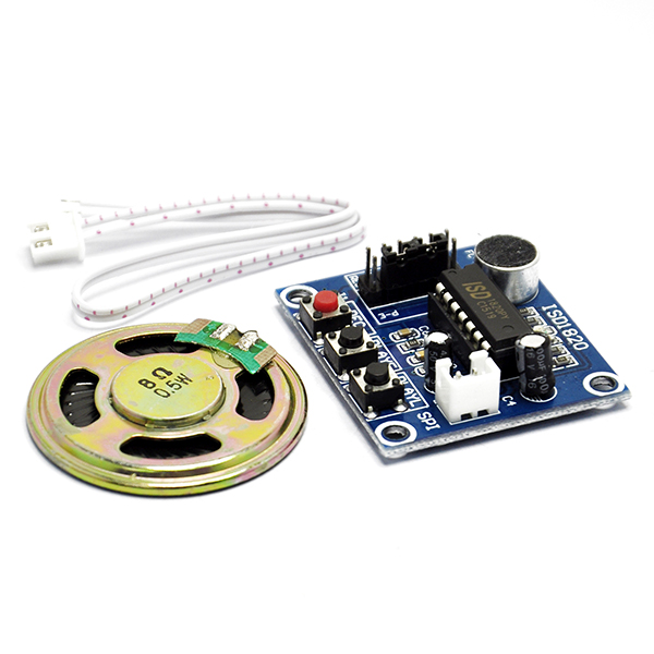 ISD1820 Sound Voice Recording Playback Module + Loudspeaker