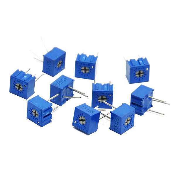 10PCS 3362P 500 ohm Precision Variable Resistor Potentiometer