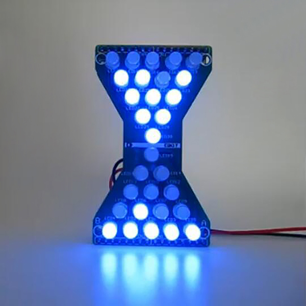Eletronic Hourglass led Diy Kits Welding Practice Board Blue Ray