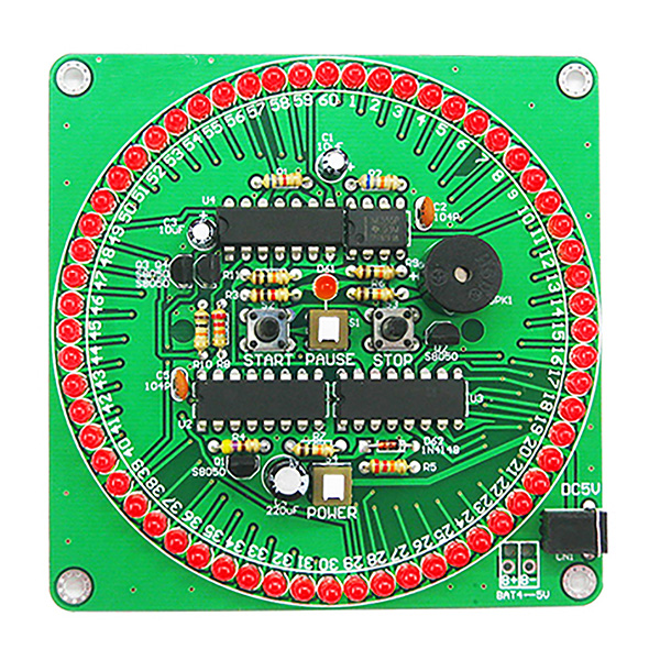 60 Seconds DIY Electronic Timer Kit for Arduino 61 Red LED